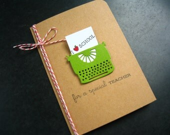 Teacher Gift, Teacher Appreciation Card, Thank You Card, End of Year Card, Back to School