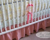 Custom Baby Crib Bedding -Design Your Own 3-Piece Baby Bedding Set - bumper, sheet and gathered skirt