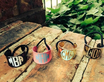 Personalized Metal Ponytail Holders - Hair Cuff - Hair Ties