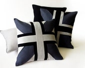 Linen decorative cushion by Lovely Home Idea. Union Jack light