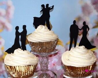 Ballroom Dancer Cupcake Toppers