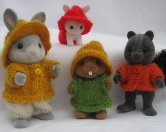 """PDF Knitting pattern for Sylvanian Families and Calico Critters, """"Rustic"""""""