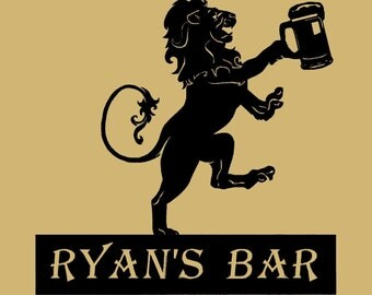 Custom, Personalized listing, bar, drinking, man cave, Custom Metal Signs, Wall Art & Metal Decor for home