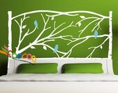 Wall Decal Sticker Removable Branches Headboard DC054 Full Size, Queen Size, Twin Size