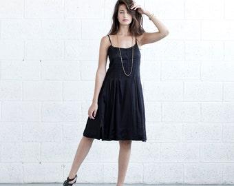 SALE!Pleated Sundress - Black.