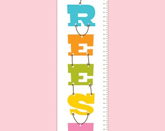 Personalized  Balloon Premium Poster Paper Growth Chart - Balloon Party