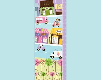 Personalized Interactive Canvas Growth Chart - My Town Seek and Find