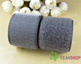 20mm Dark Gray Sew on Velcro Hook & Loop Tape - 2 Meters (VC20-25)