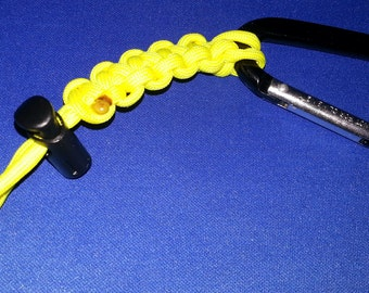 Water Bottle Carrier - Yellow ParaCord with a Carabiner