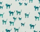 Hatbox Tiger Stripes in Blue, Alexia Abegg, Cotton+Steel, RJR Fabrics, 100% Cotton Fabric, 4001-001