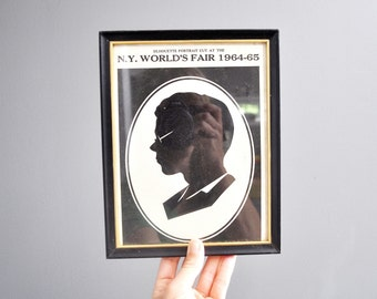 Mid-Century New York World's Fair Silhouette Portrait