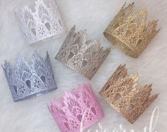 Ready to Ship || Customer Fave|| the Sienna||  newborn 1st birthday vintage lace crown ||HEADBAND option|| photography prop(all ages)
