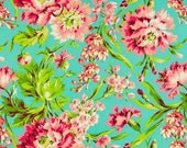 Fabric by the Yard- Bliss Bouquet in Teal- Amy Butler