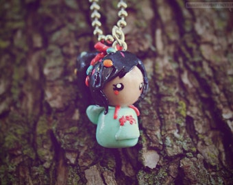 Vanellope Von Schweetz Chibi (inspired fan art from Wreck it Ralph) • Necklace/Keychain/Phone Charm/Earrings