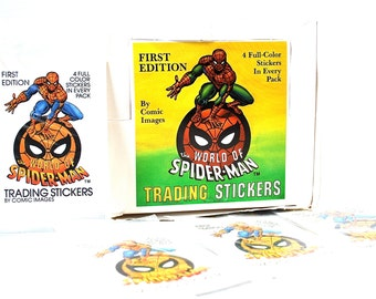 4 World of Spider Man Sticker Packs 1988
