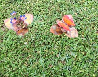 Butterfly or Flower Garden Stake