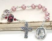 Saint Rita Healing Chaplet / Patron Saint of Impossible Cases / Catholic Rosary Prayer Beads
