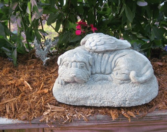 SHAR PEI ANGEL Memorial Statue (Shipping is for East of the Mississippi River )