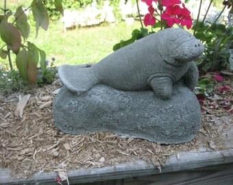 Concrete Manatee Statue