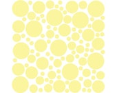100 Wall Safe Vinyl Decal Polka Dots Circles Maize Light Yellow Removable Temporary Stickers Adhesive Nursery Crib Kids Childs Bedroom Room