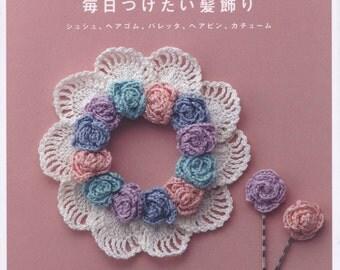 Crochet Japanese hair accessories vol 1, headband,hair tie ebook, high quality PDF