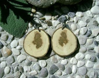 Wooden EARRINGS - From HORNBEAM Tree Branch Handmade Wooden Earrings