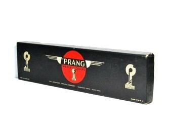 Vintage Prang Watercolors: Art Deco Box, American Crayon Company, Pre-1957 Prang Art Set