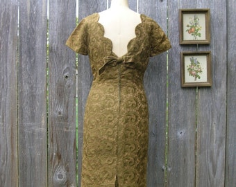 Vintage 60's TOUCH OF GOLD Fitted Dress