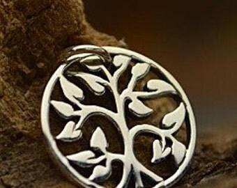 Tree of Life Charm - Tiny Sterling Silver Charm - Family Tree Charm, Gift, Baby, New Mom, Cutout Charm, Love, Sister, Nana Gift