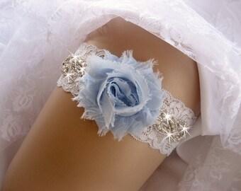 Prom Garter / Blue Garter / Crystal Garter / Toss Garter / Garter Belt / Garder / Prom Garter / lace garter