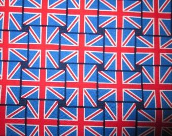 British Flag Small London UK Items Cotton Fabric Fat Quarter or Custom Listing