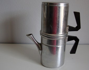 Vintage Cowboy Coffee Pot, Aluminum Drip O Lator Cofee Pot,  Camping Coffee Pot