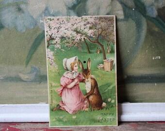 Vintage Easter Postcard, Creepy Vintage Postcard, Vintage Ephemera