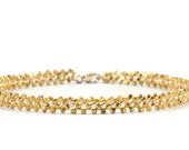 14K Gold Vermeil Anklet - Gold Anklet - Beaded Chain Anklet - Gold Ankle Bracelet - Beach Wedding - Jewelry Bridesmaids Gift