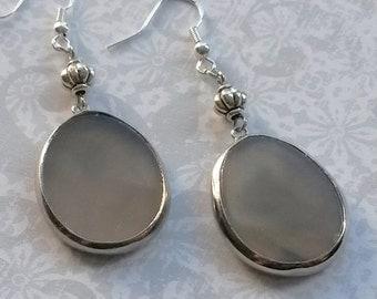 Smoky Agate Earrings in Sterling Silver