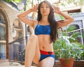 Psylockini HERO-KINI by Sci Feye Candy Psylocke X-Men inspired Swimsuit