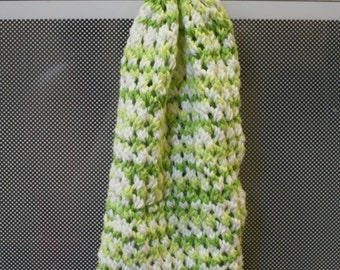 Hanging Dish TowelCotton Knit Lace Yellow Green White Kitchen Accessories Reusable Eco Friendly Green Earth Cottage