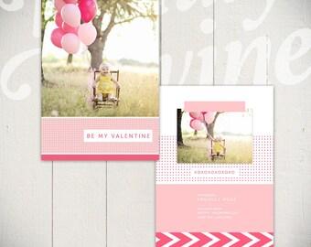 Valentines Day Card Template: My Valentine - 5x7 Baby Valentine Card Template