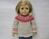 Custom order listing reserved for  Grace --coral and berry fair isle sweater