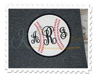 Baseball Applique for Monograms