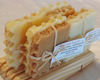 HONEYCOMB Natural Soap FAVOR - Non-edible Honey Treat Tied in Raffia (Weddings, baby/ bridal showers, parties) Rustic Theme, Modern, Elegant