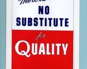 Quality, 1950s blank card