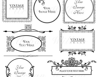 ORNAMENTAL VINTAGE FRAMES Pack 10