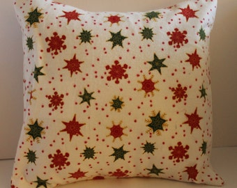 12x12 Flannel Christmas Snowflake Pillow