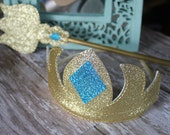 Snow Queen-inspired Tiara and Scepter Set- Glitter Dress-up accessories