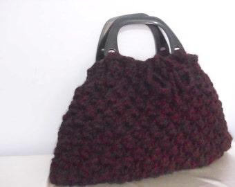 Crocheted Handbag afghan beaded  bag spring fashion bag gift handmade new season winter crochet