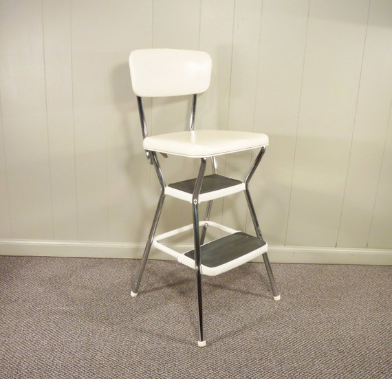 Retro Cosco 50s Vintage Step Stool Kitchen Stool Chair