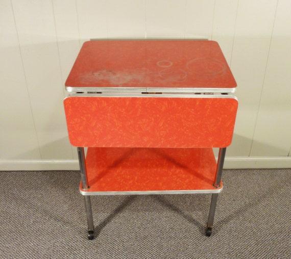 Rossa formica 50s cucina carrello mobile goccia di gillardgurl