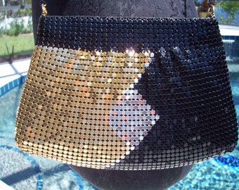 Shiny Disco Three Toned Metal Mesh handbag by Y&S