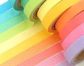 10 rolls Rainbow Washi tape (7mm X 5M)